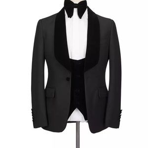 Men 3 Piece Black Tuxedo